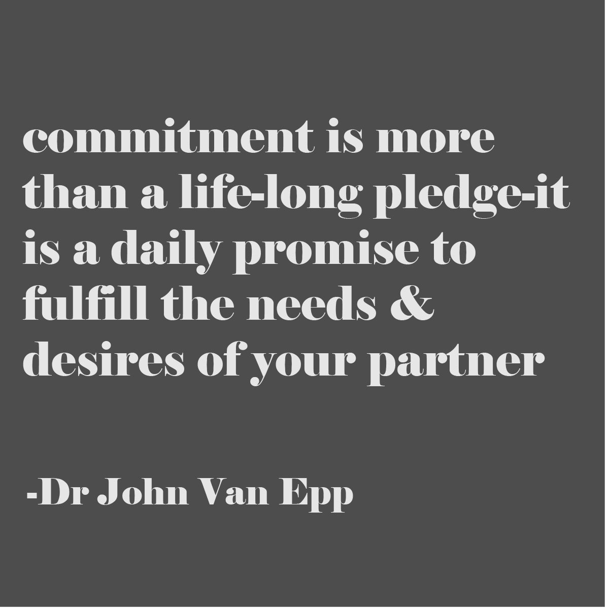 commitment is a pledge