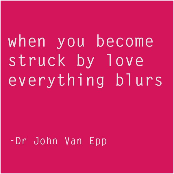 when you are struck by love